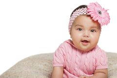 Six months old baby girl. Royalty Free Stock Image