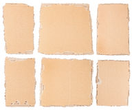 Six morceaux de carton images stock