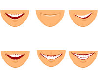 Six mouths set Stock Image