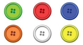 Six multi color buttons. Vector EPS Royalty Free Stock Photo