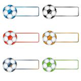 Six multi-colored balls Stock Images