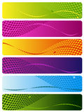 Six multi-coloured banners Stock Photography