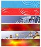 Six multi-coloured  banners 9 Stock Photo