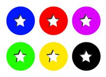 Colorful Star Cutout Pin Buttons vector illustration