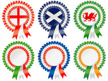 Six Nations Rosettes Royalty Free Stock Photography