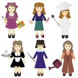 Six nice girls Royalty Free Stock Photos