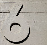 Six nine number concrete wall Stock Photos