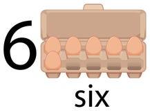 Six oeufs dans le carton illustration libre de droits