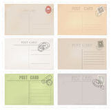 Six old post envelopes . Stock Photography