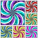 Six ont coloré des rayons de soleil réglés Photo stock