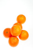 Six oranges close up Stock Images