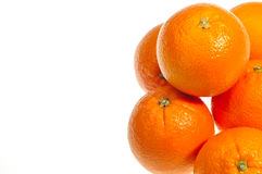 Six oranges extreme close up Royalty Free Stock Photos