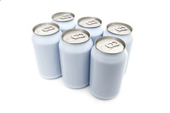 Six pack beverage cans Stock Image
