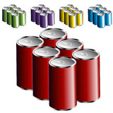 Six Pack Cans. An image of a six pack of cans vector illustration