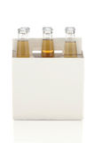 Six Pack of Clear Beer Bottles Royalty Free Stock Image