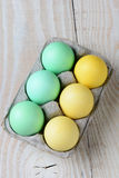 Six Pack of Easter Eggs Stock Photography