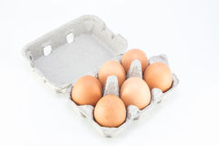 Six pack eggs Royalty Free Stock Photo