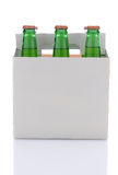 Six Pack of Lemon Lime Soda Bottles Stock Photo