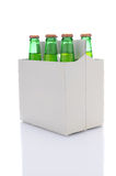 Six Pack of Lemon Lime Soda Bottles Royalty Free Stock Image