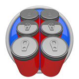 Six Pack of Soda. Icon form Stock Images