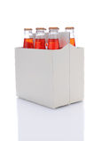 Six Pack of Strawberry Soda Bottles Royalty Free Stock Photos