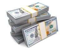 Six packs of hundred dollar bills Stock Image