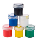 Six Paints Royalty Free Stock Image