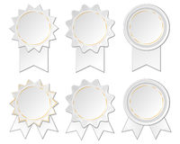 Six paper rosettes Stock Photography