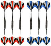 Six peace of crossbow target arrows are all made with the highest quality of carbon fiber. These targets arrows are the same size as crossbow faces Royalty Free Stock Photography