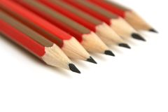 Six pencils. On white background Royalty Free Stock Photos