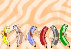 Six pencils royalty free illustration