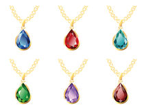 Six Pendant Isolated Objects Royalty Free Stock Photography
