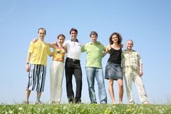 Six person stand beside Royalty Free Stock Image