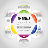 Six Petals Infographic Stock Images