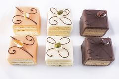 Six Petites Fours Stock Photography