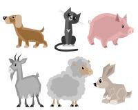 Six pets set Stock Photo