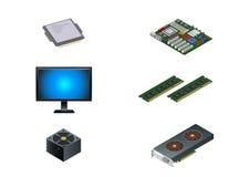 Six pièces d'ordinateur Photo stock