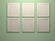 Six picture frames Stock Photo