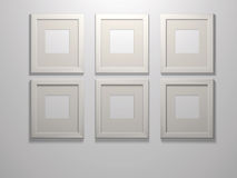 Six picture frames Stock Photography