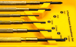 Six piece Precise screwdriver set.tool set. Six piece Precise screwdriver set Royalty Free Stock Photo