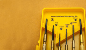 Six piece Precise screwdriver set.tool set. Six piece Precise screwdriver set Royalty Free Stock Image