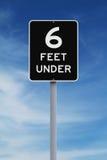 Six pieds dessous Images stock