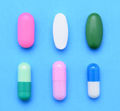 Six Pills Royalty Free Stock Image