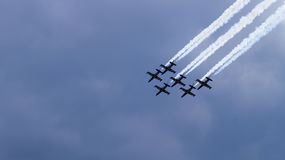 Six planes in the group Royalty Free Stock Photo