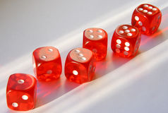 Six playing cubes. Stock Images