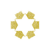 Six point star created with arrows, vector symbol Stock Photo