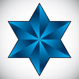Six point star symbol. Stock Photography