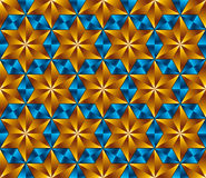 Six point stars tiles seamless pattern. Royalty Free Stock Photo