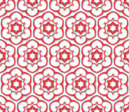 Six pointed flowered pattern Stock Photos