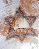 Six-pointed old jewish star Royalty Free Stock Photography